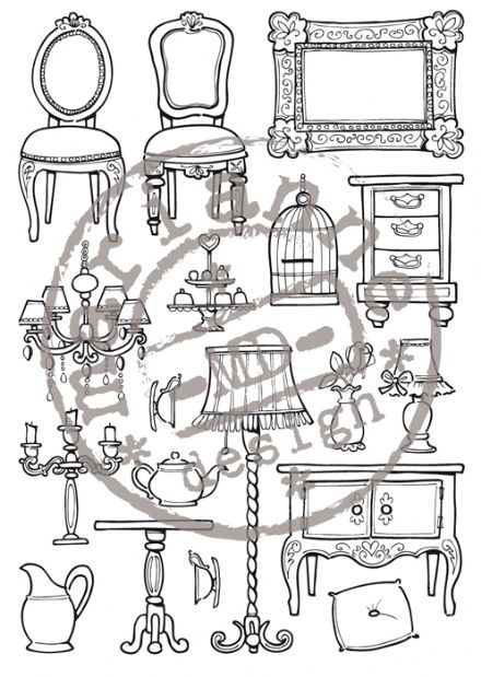 EC0143 ~ DOLLS HOUSE by Eline ~  Marianne Designs Clear stamp